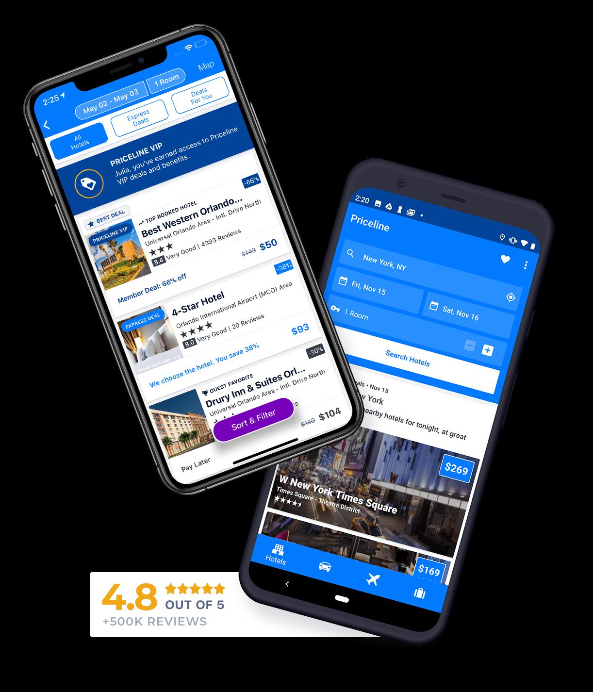 Priceline Hotel Booking App